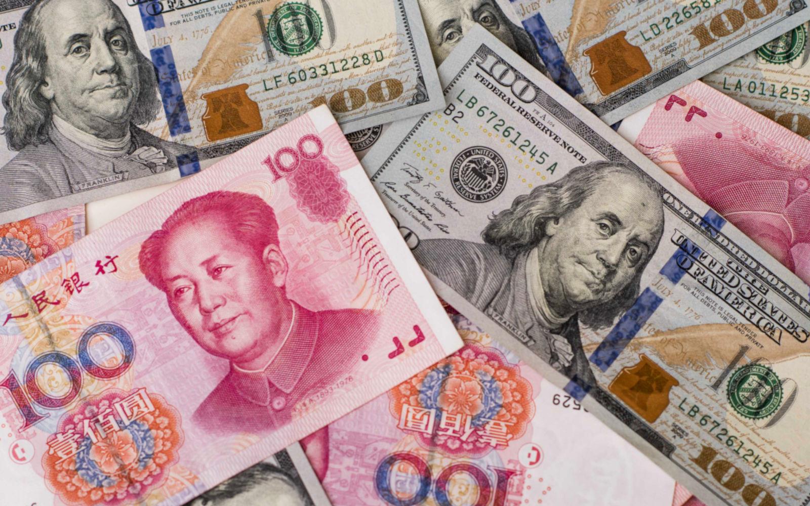 Покупка долларов в Китае