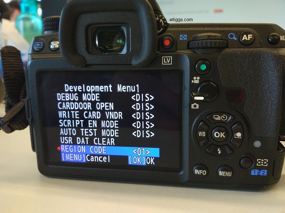 pentax k3ii developer menu