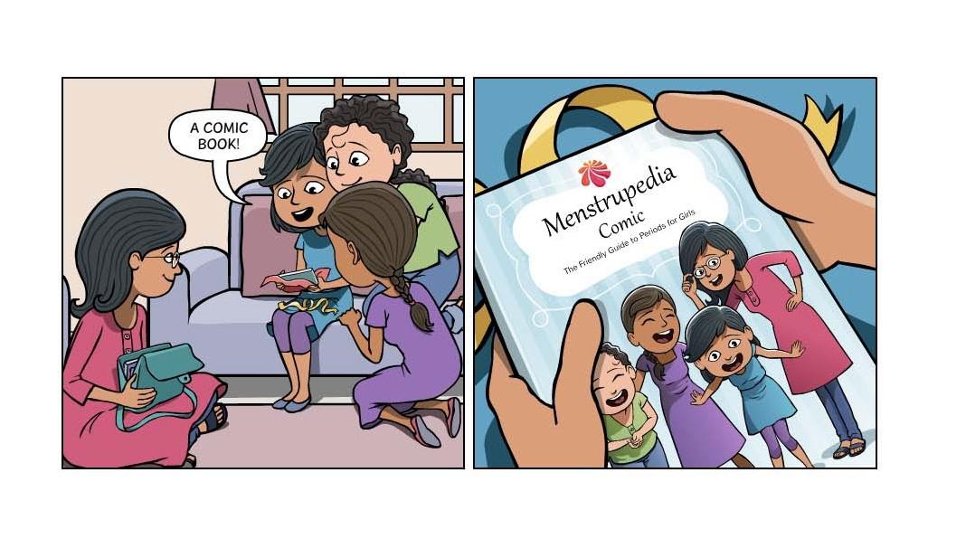 Перевод индийского комикса для девочек